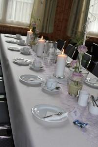 Geschmückter Tisch